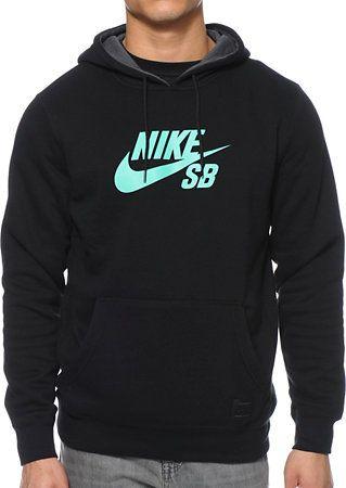 Nike SB Icon Black Pullover Hoodie
