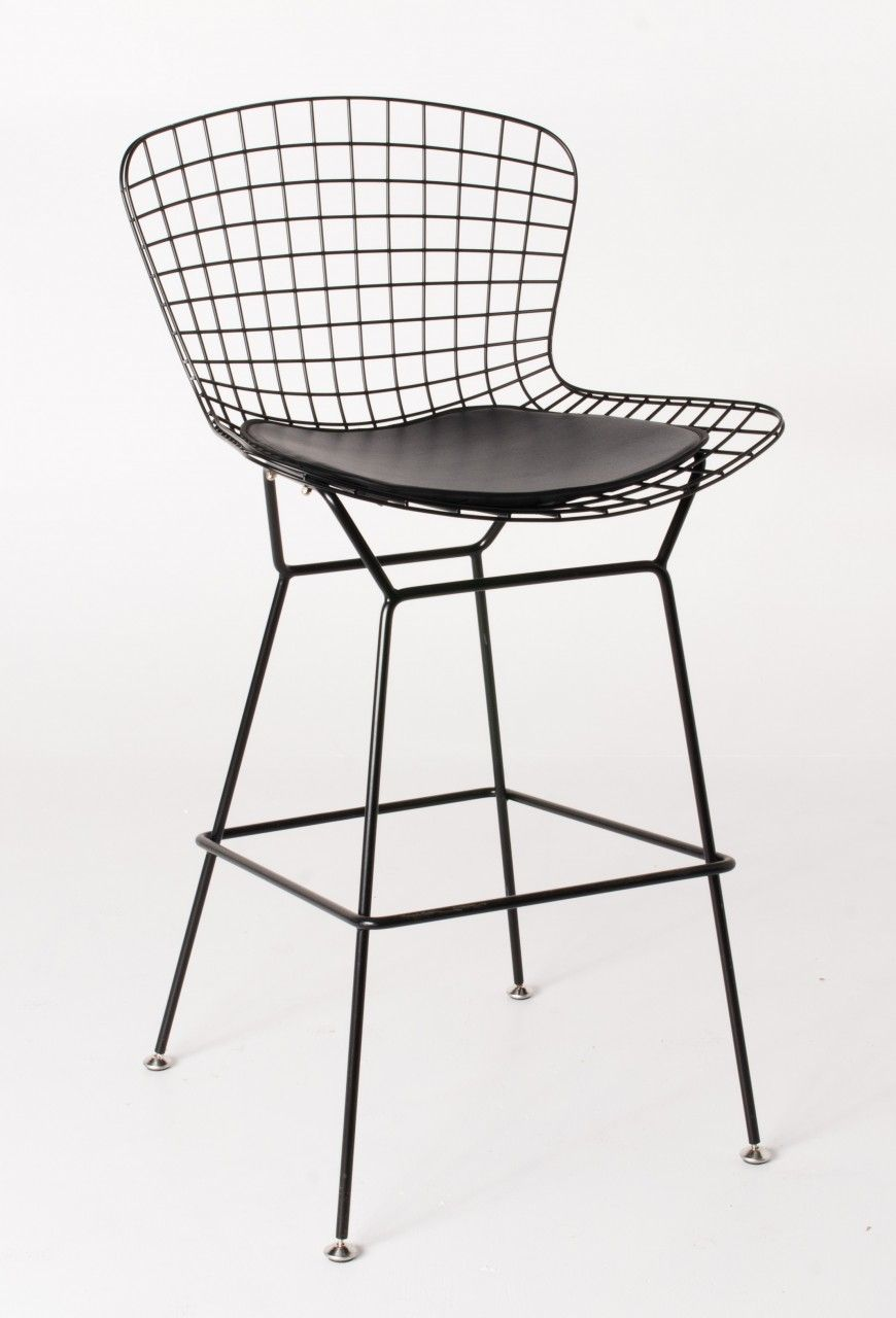 Groovy Replica Harry Bertoia Wire Bar Stool 71Cm Black Ocoug Best Dining Table And Chair Ideas Images Ocougorg