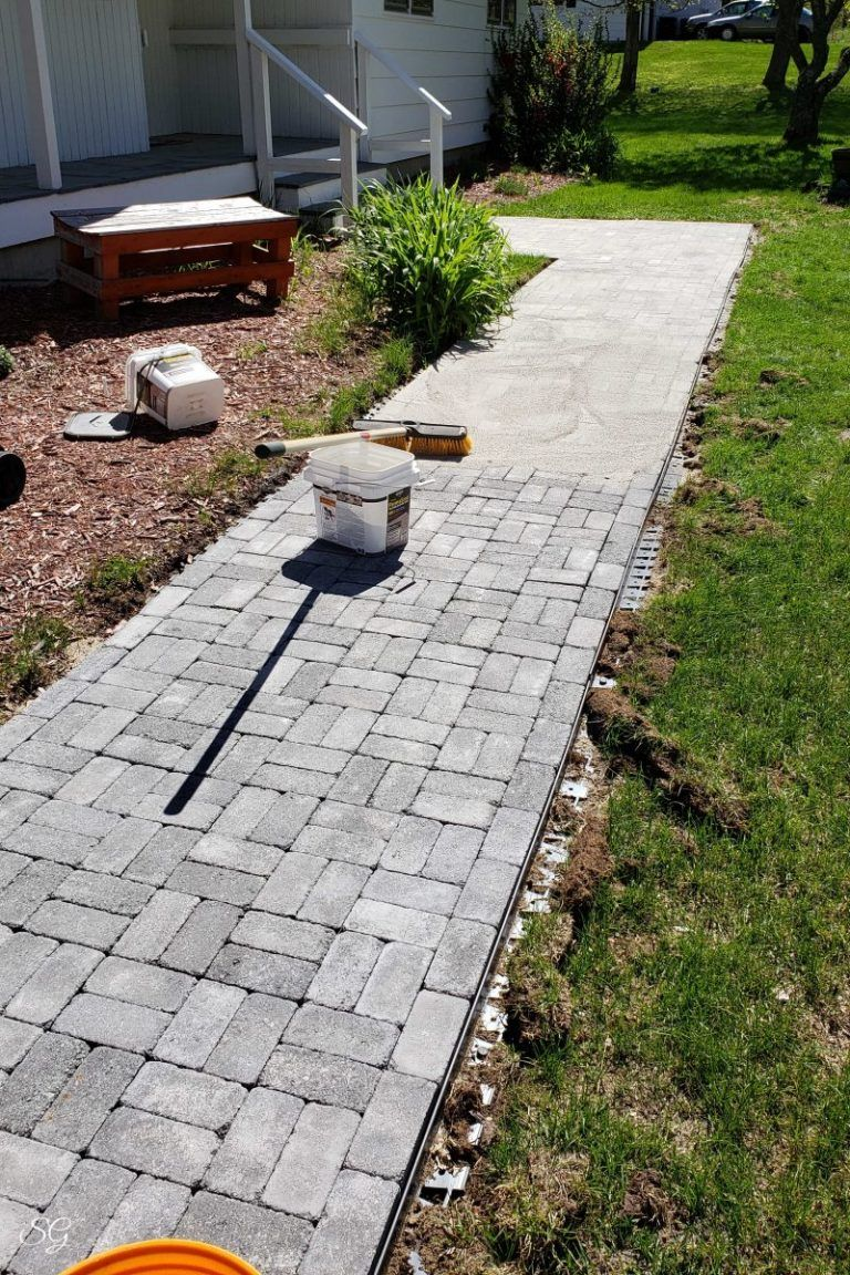 DIY Paver Walkway How To Install A Paver Walkway