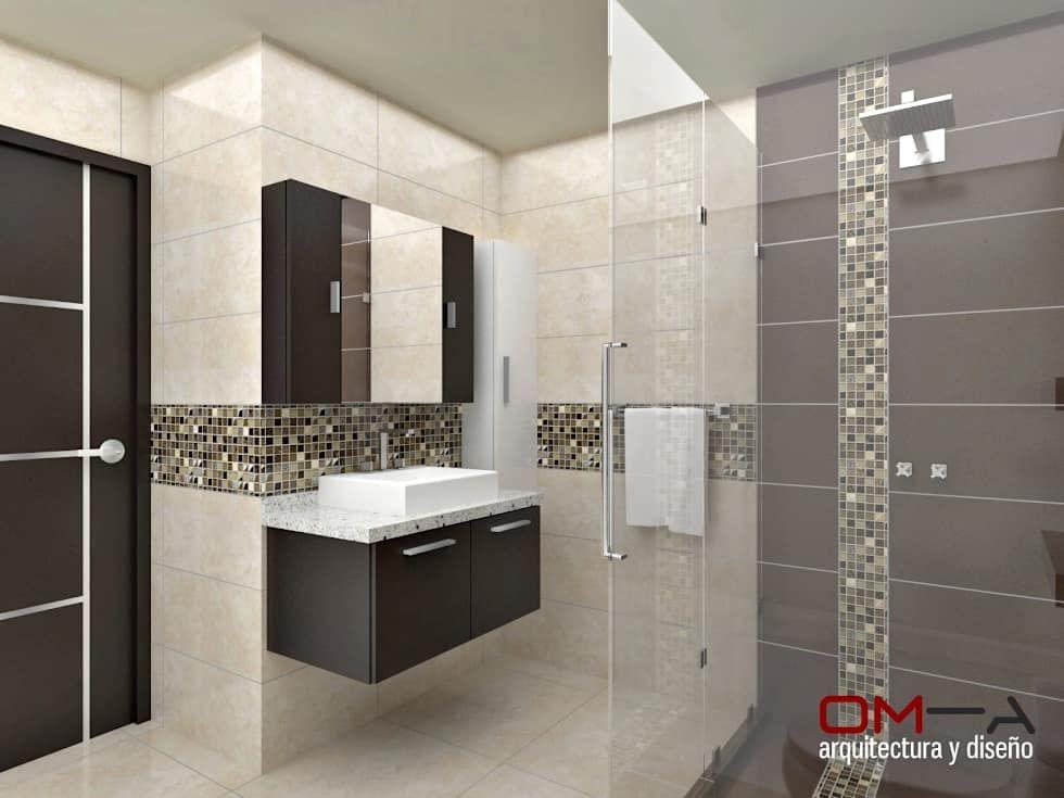 Dise o interior en apartamento espacio ba o principal for Banos modernos diseno interior