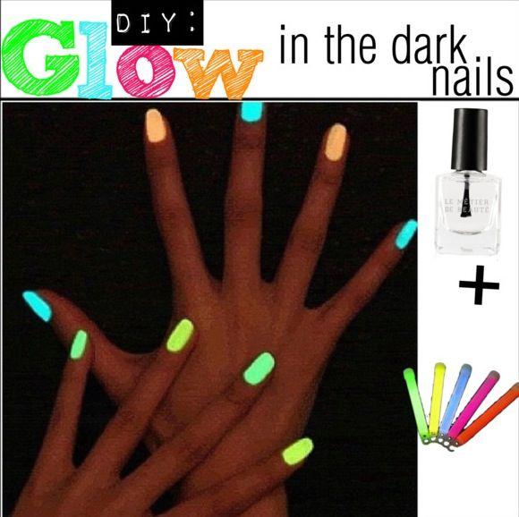 Make Glow in the Dark Nail Polish | DIY | Pinterest | Dark nails ...