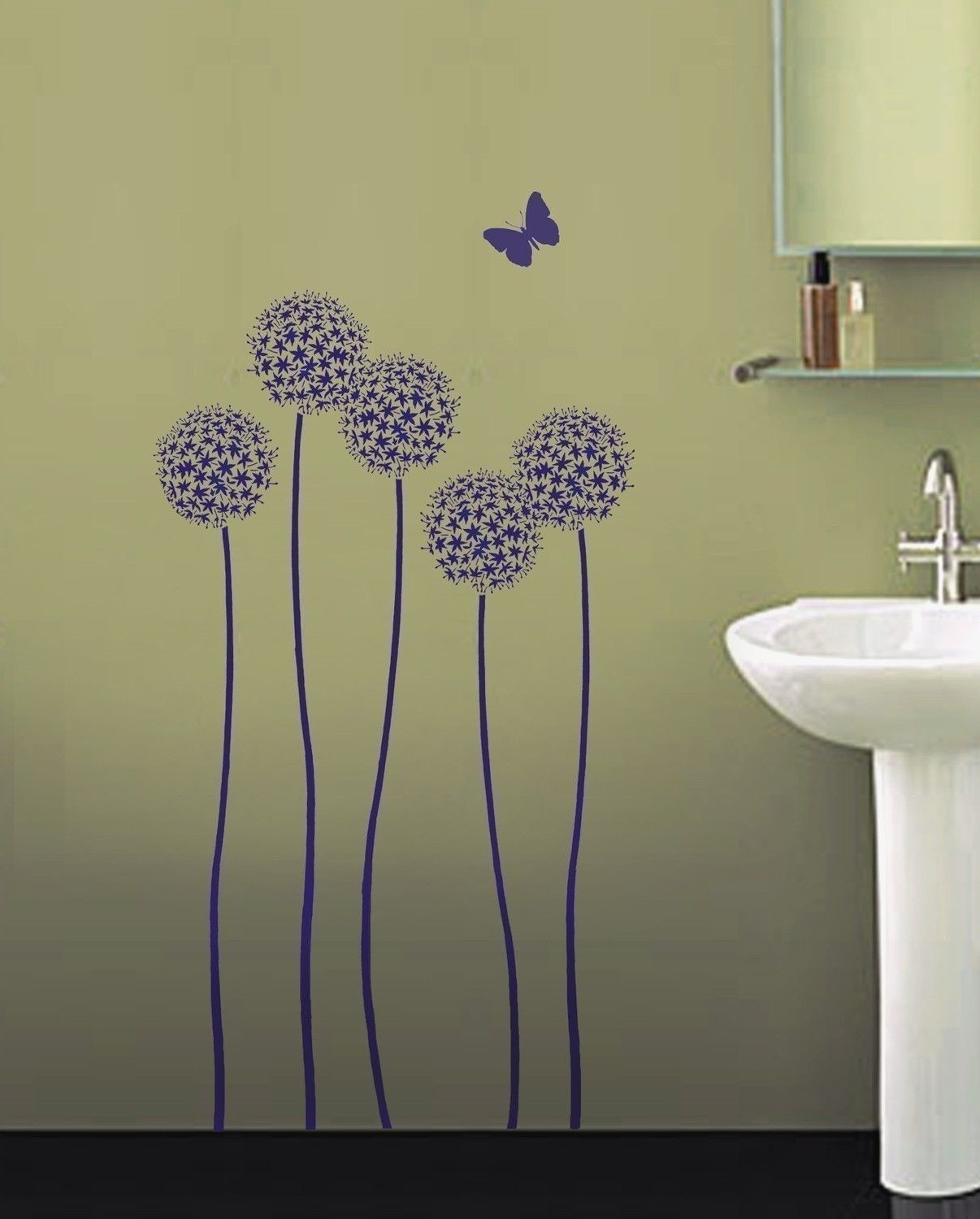 ideas incredible bedroom decoration using purple flower
