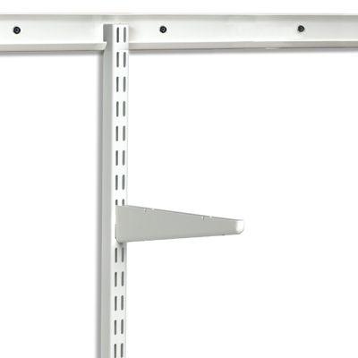 white elfa easy hang top tracks shelf brackets elfa shelving and shelves. Black Bedroom Furniture Sets. Home Design Ideas