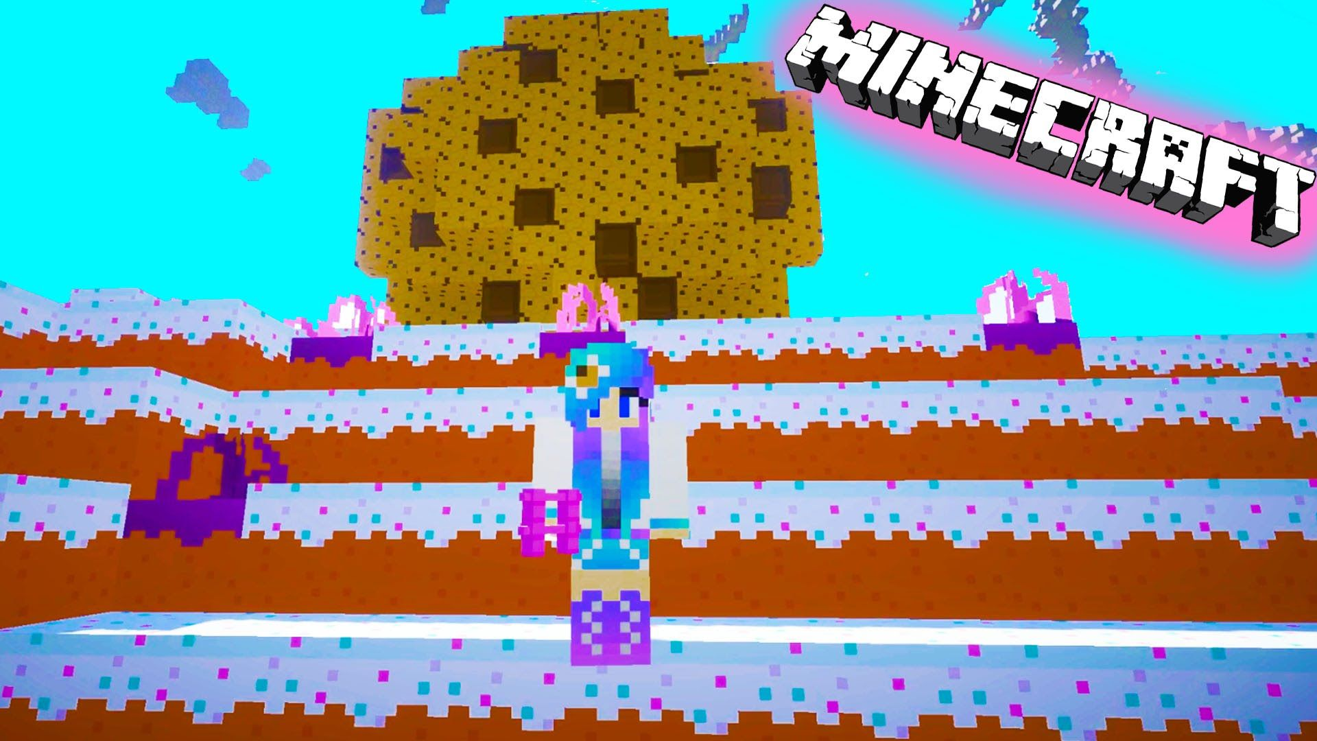 Cookieswirlc Plays Minecraft Candy Sugar Land Gaming Cake World Giant Co Cookie Swirl C How To Play Minecraft Giant Cookie