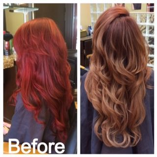 How To From Max Red To Pretty Auburn Hair Color Formulas Red