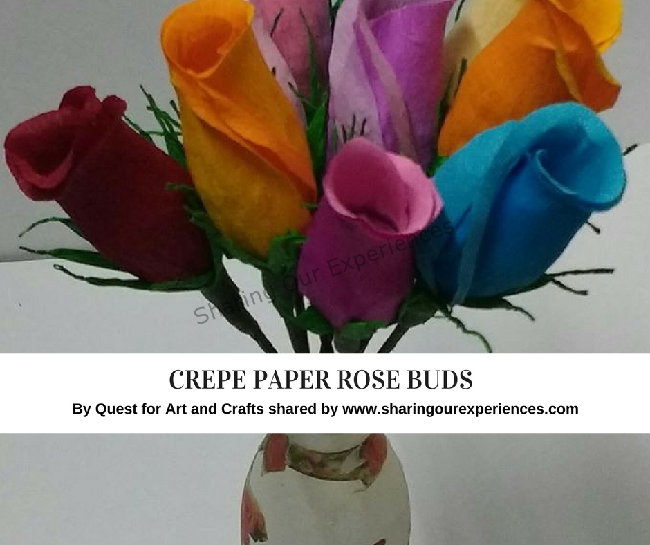 How To Make Crepe Paper Rose Buds Paper Roses Crepe Paper Roses