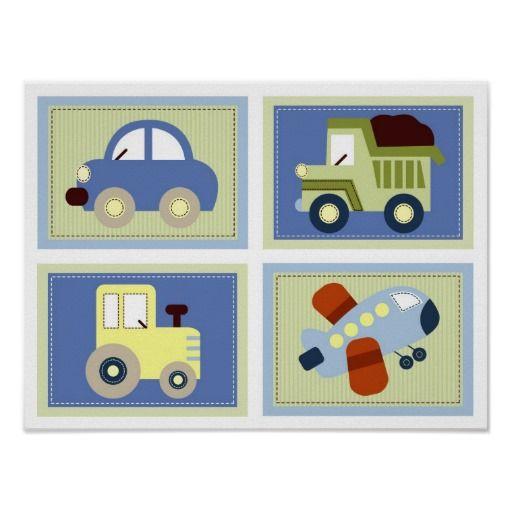gelassen uns gehen auto-lkw-flugzeug-kinderzimmer- poster | mehr ... - Kinderzimmer Flugzeug