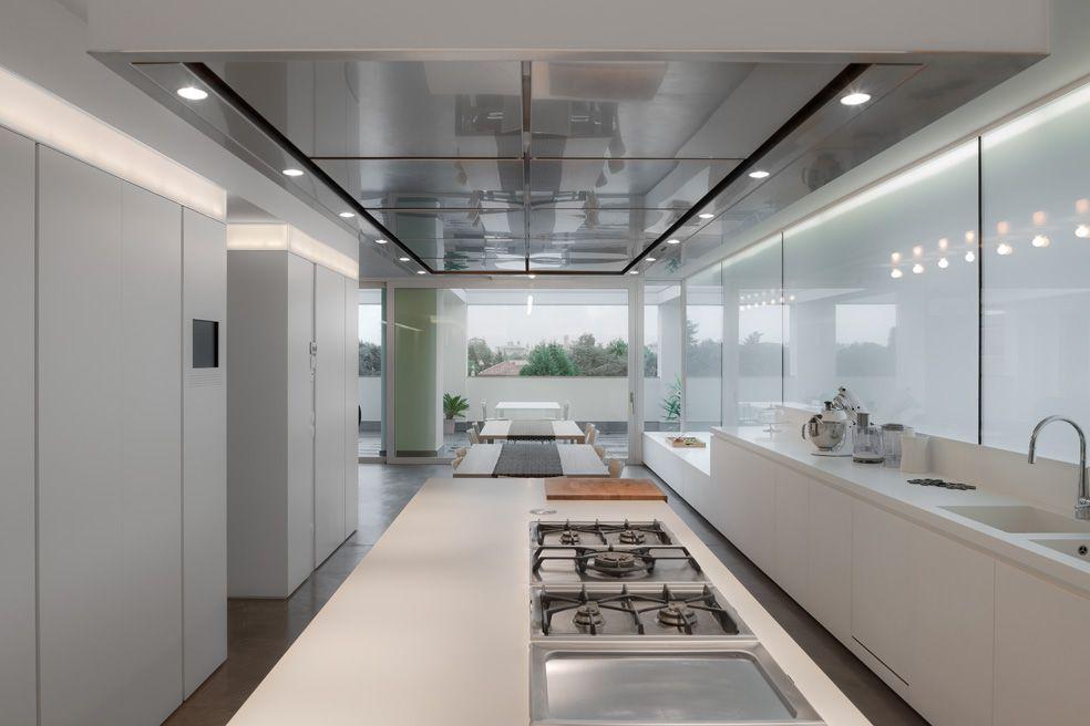 attico #centro #treviso #cucina #corian #rovere #spazzolato #pavi ...