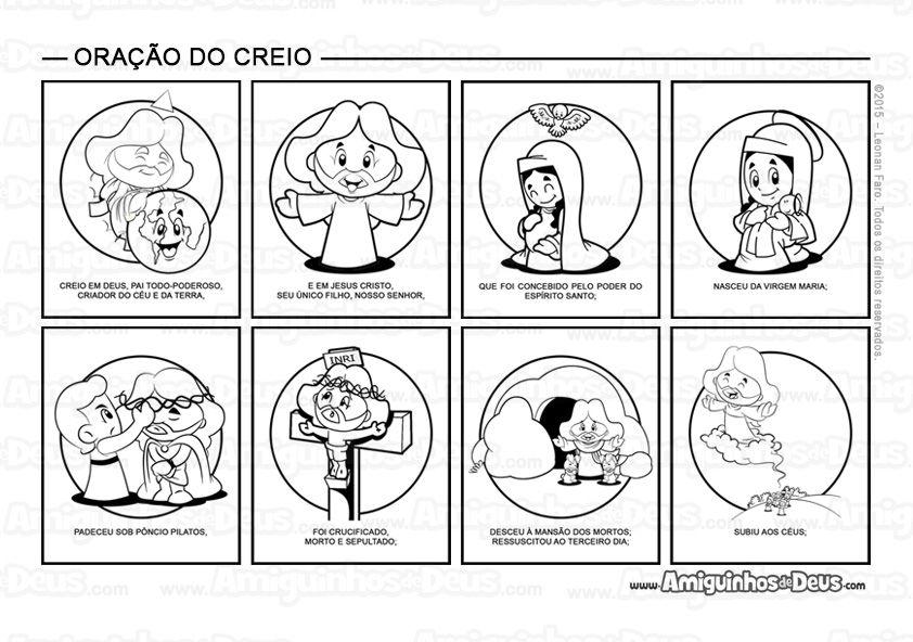 Oracao Do Creio Desenho Para Colorir Oracoes Para Criancas