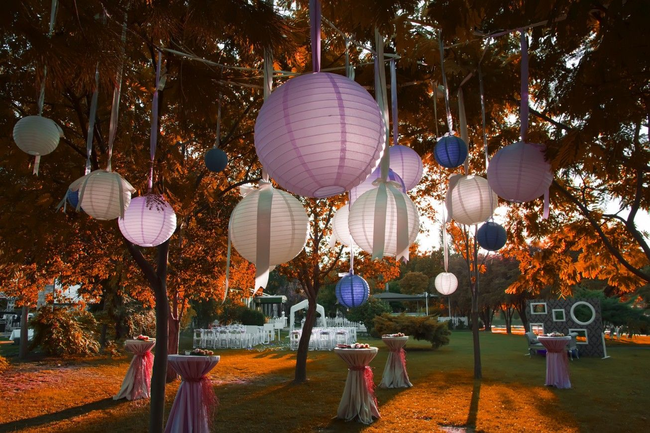 backyard party lighting ideas. outdoor garden party decoration ideas with globe lantern light backyard lighting