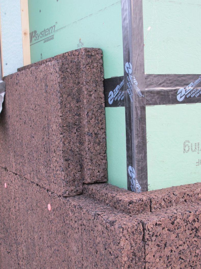 Cork Insulation On Our Farmhouse Home Insulation Green Insulation Exterior Insulation
