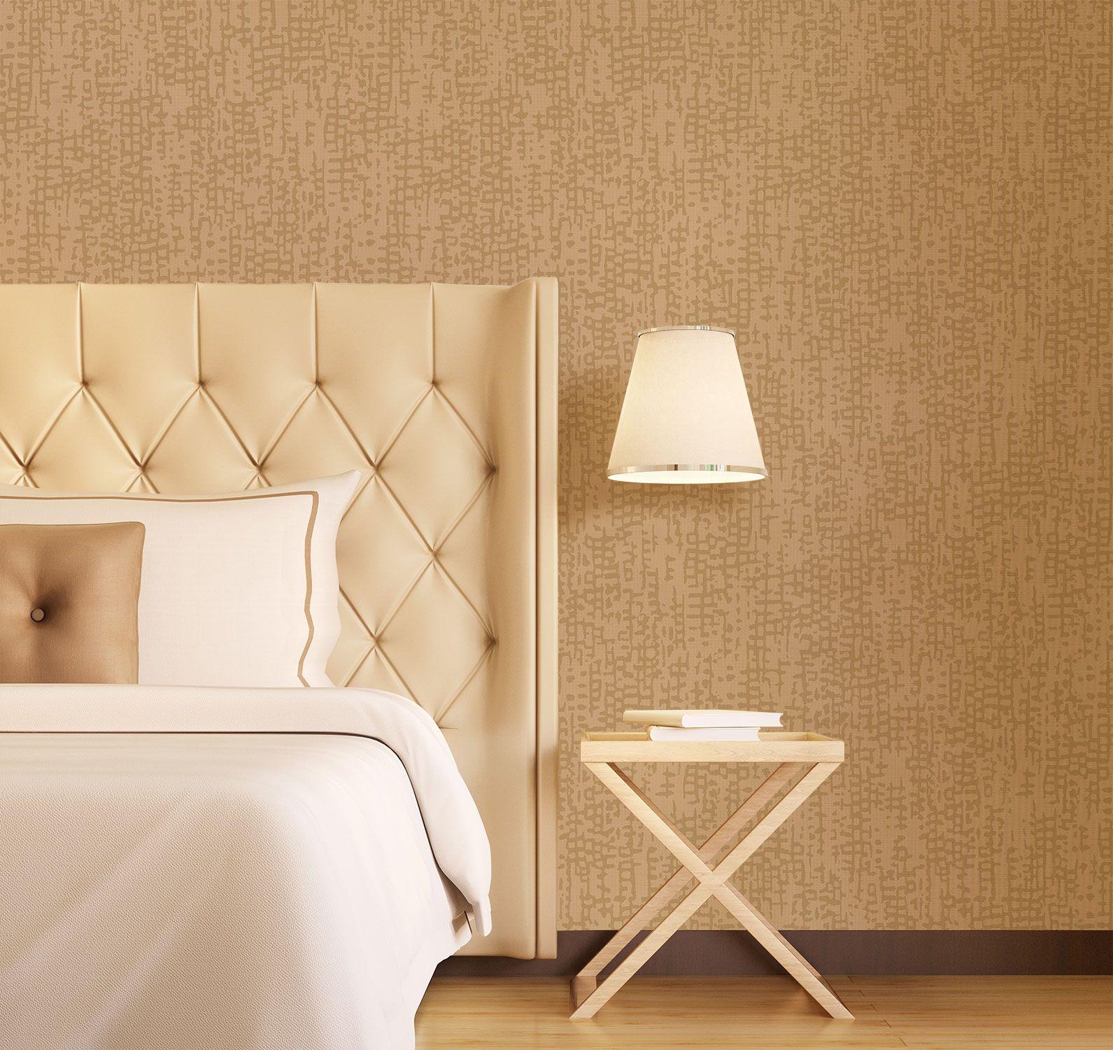 Carrick Gold Feature Wall Wallpaper