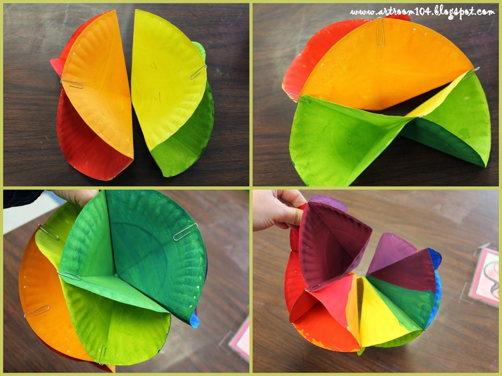 Art Room 104: 5th Grade: 3-D Color Wheel Tutorial | Lesson Ideas - 3 ...