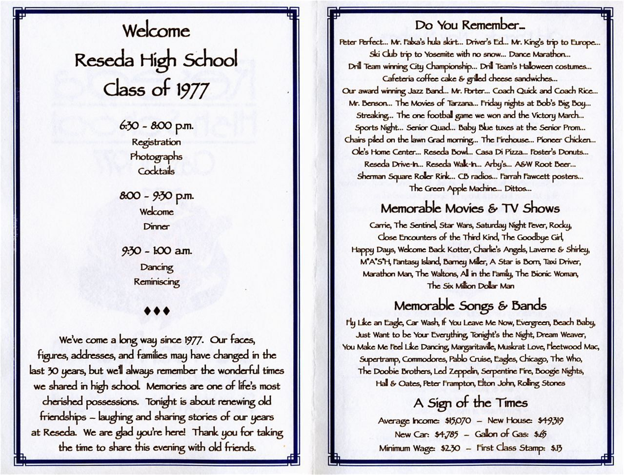 30th reunion program school reunion high school and for Class reunion program template