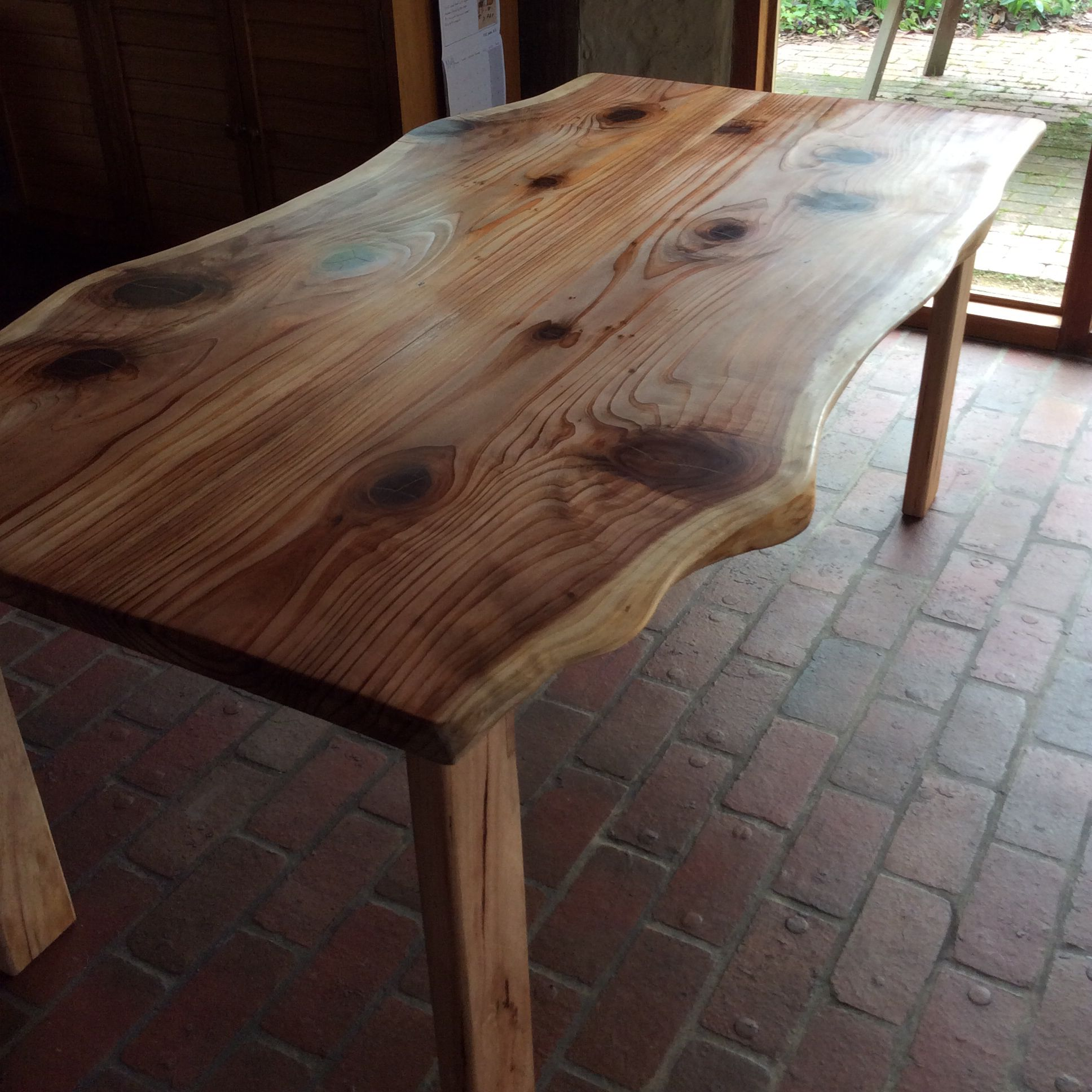 Japanese Cedar dining table. Designed and made by Graeme Henchel, May, 2014.