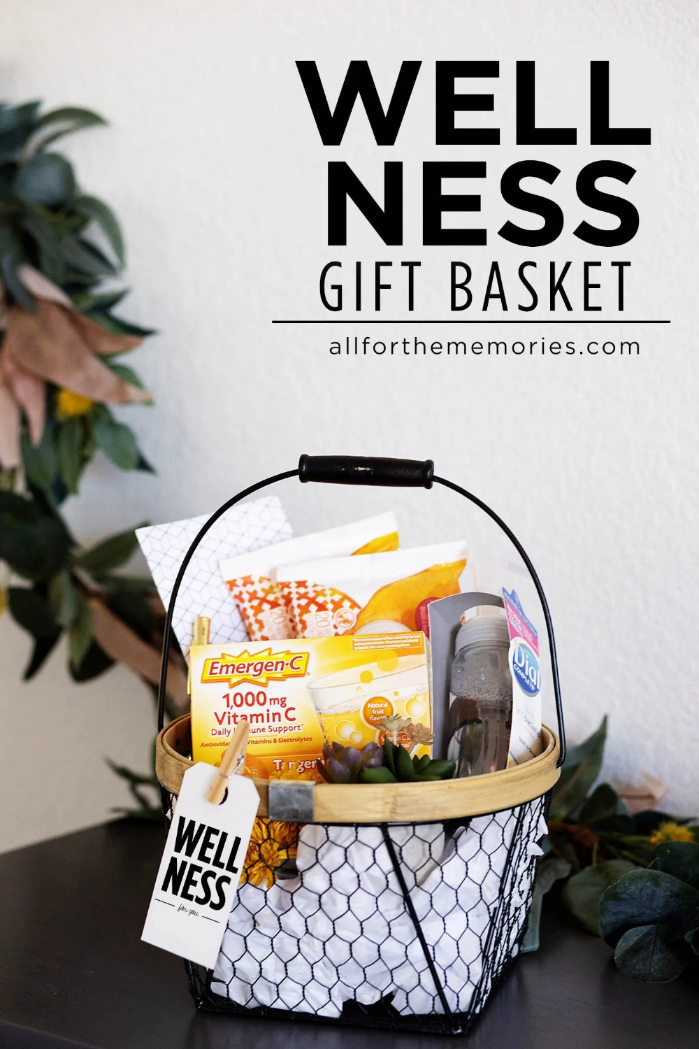 Ad Wellness Gift Basket Idea With Free Printable Gift Tag Bewellessentials Wellness Gifts Gift Baskets Get Well Gift Baskets