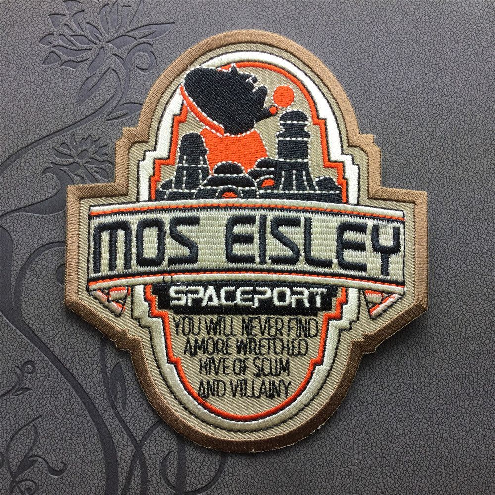 star wars mos eisley spaceport patch embroidered patch iron on patches sew on patches etsy. Black Bedroom Furniture Sets. Home Design Ideas