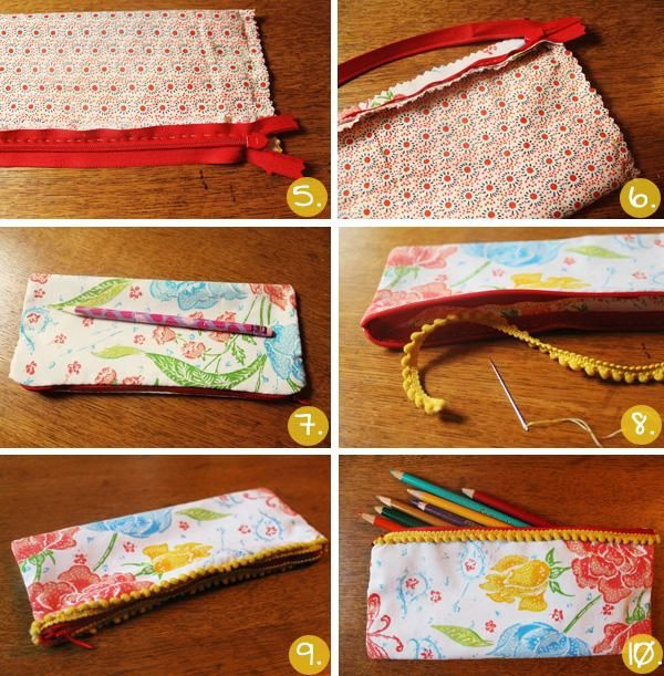 Резултат с изображение за how to make a pencil case step by step