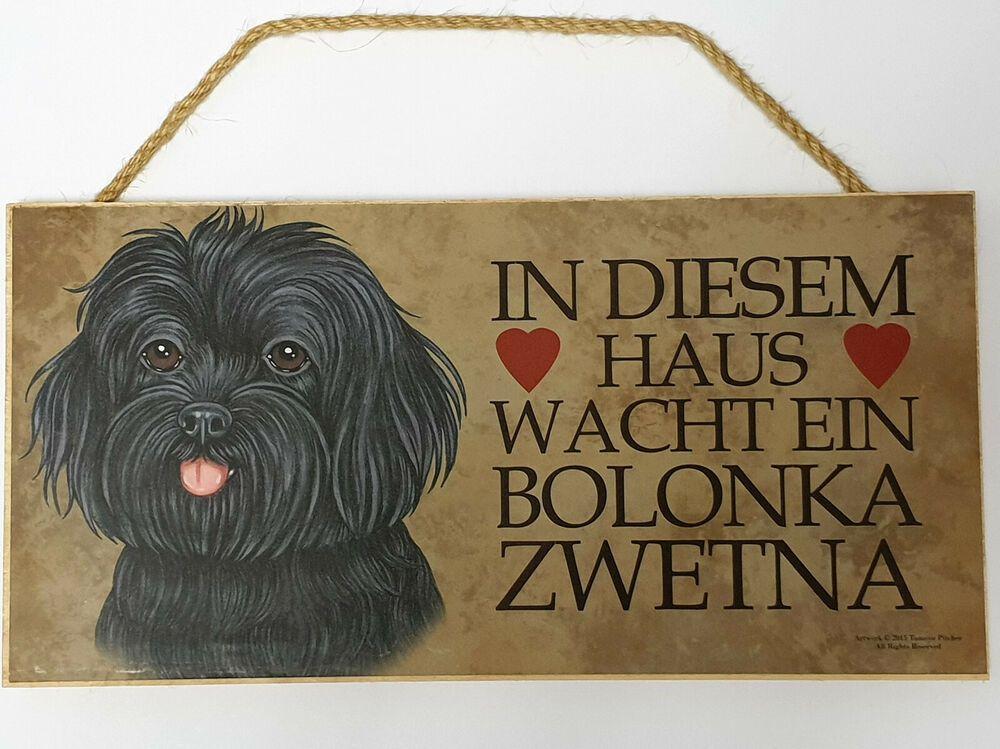 Holz Schild Bolonka Hund Turschild Dekohanger Tierschild Geschenk Deko Bolonka Hund Turschilder Geschenk Deko