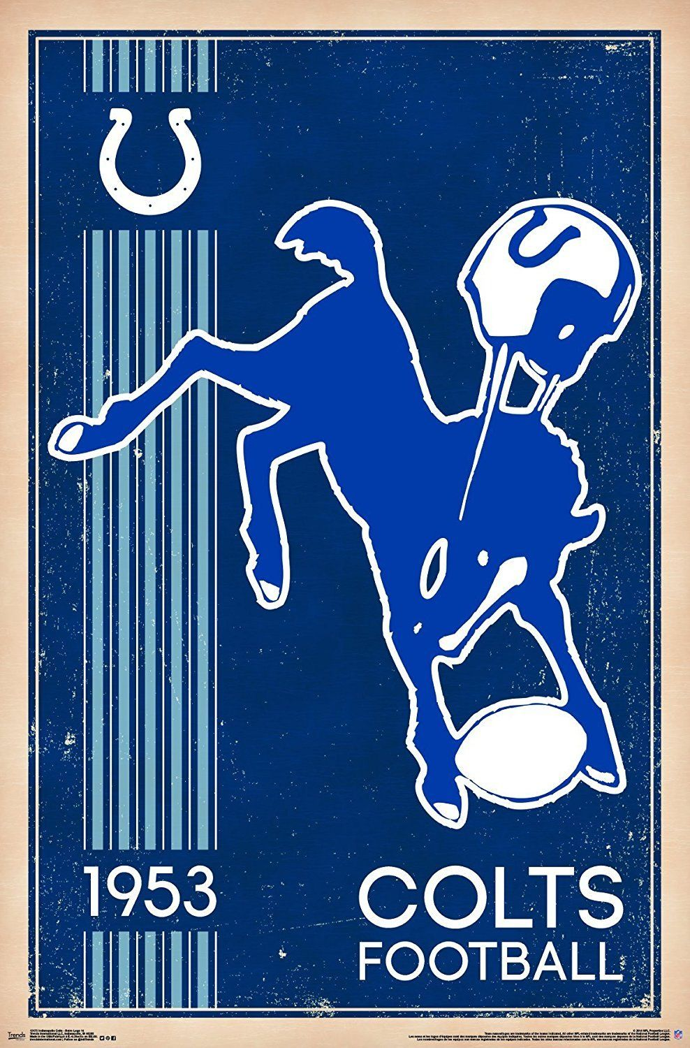 14fac489 Indianapolis Colts Vintage Logo 22x34 Football Poster | Products ...