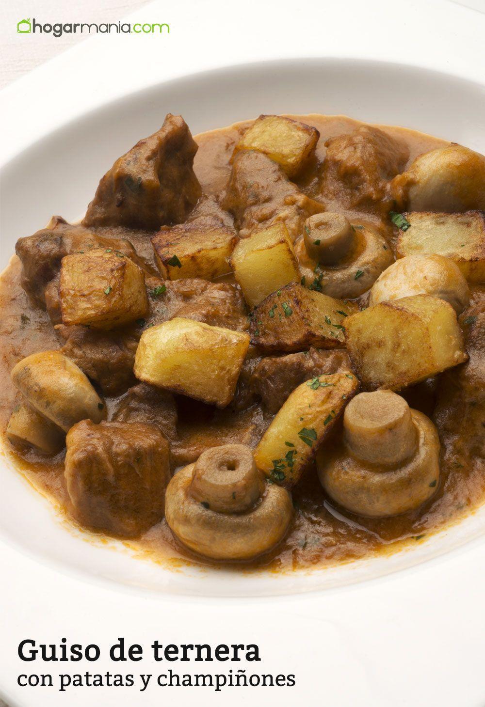Karlos Arguiñano prepara un guiso de ternera con champiñones y patatas, un plato tradicional elaborado en la olla rápida.