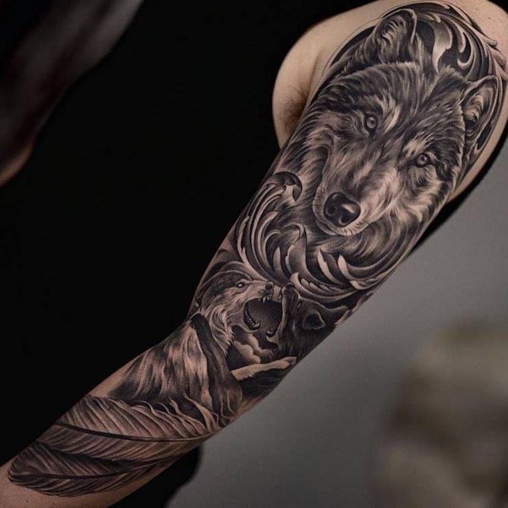 Tatuaje De Lobo En Brazo Mauro Tatuajes De Lobos Lobos Y Diseño