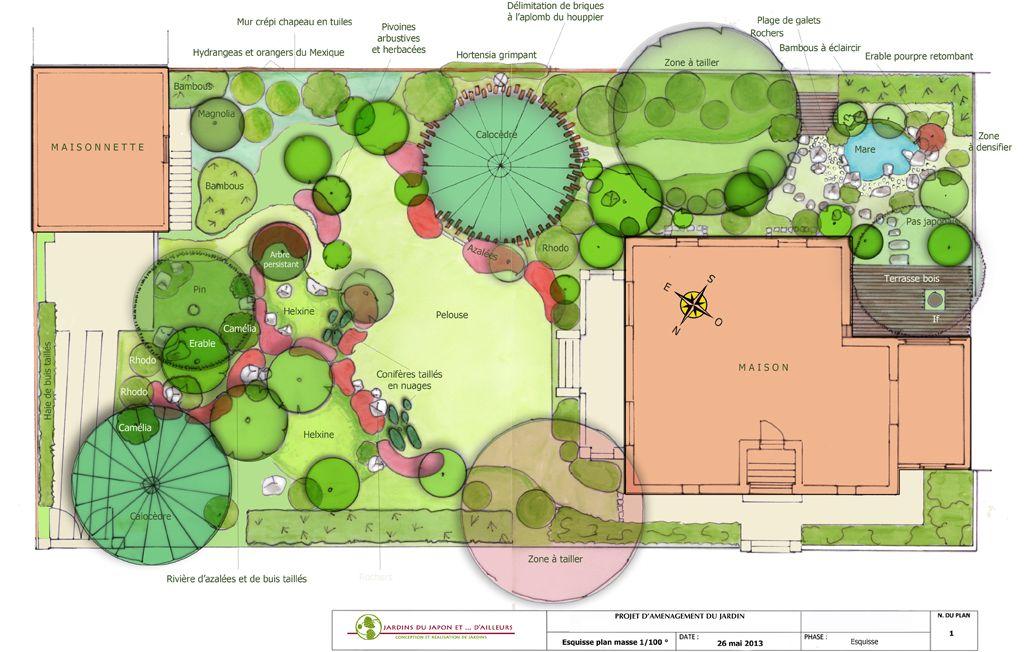 Plan jardin japonais 0 fontainebleau jardin pinterest for Conception jardin japonais