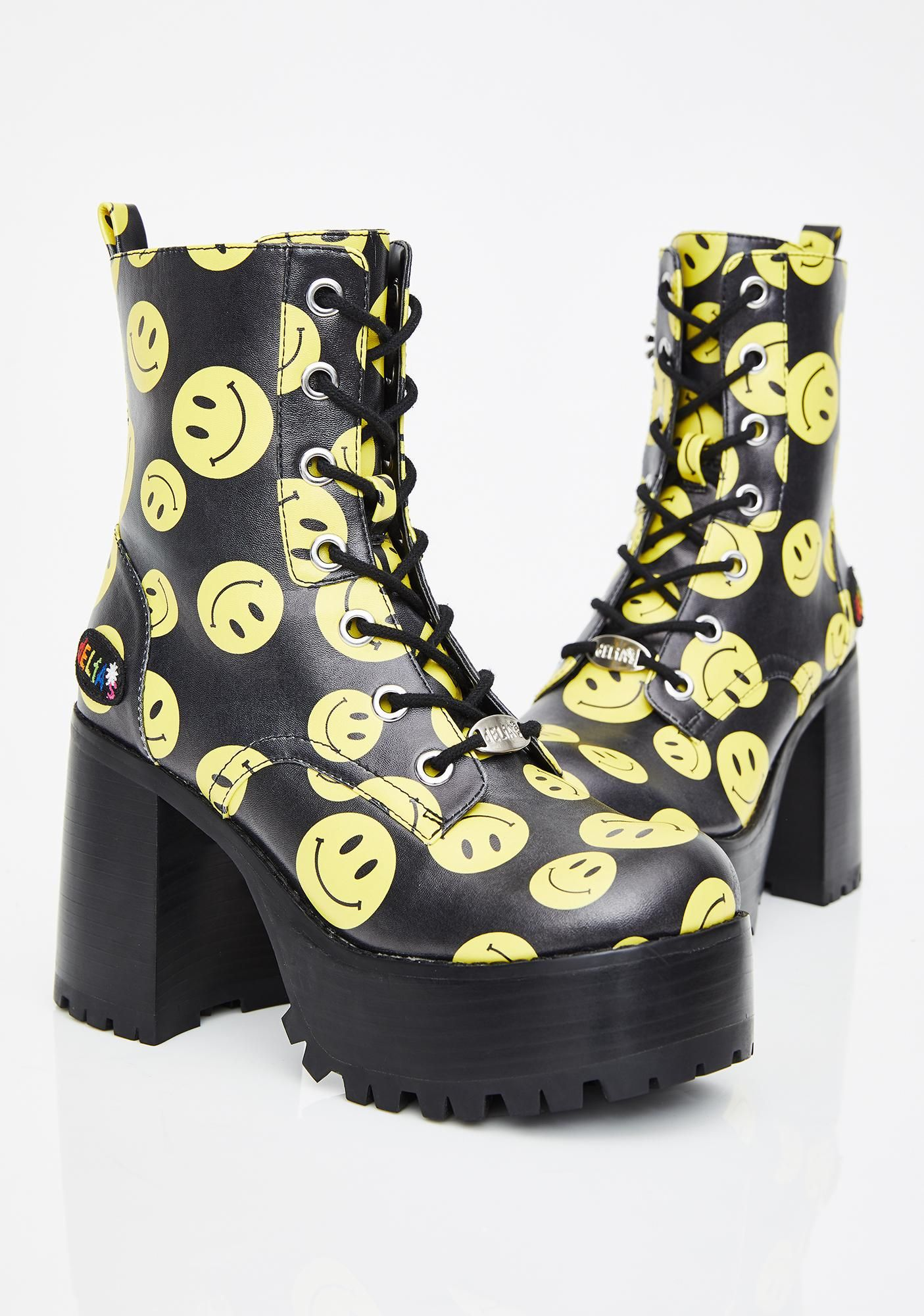 7b2579b4381 dELiA s by Dolls Kill Joyful Noise Platform Boots