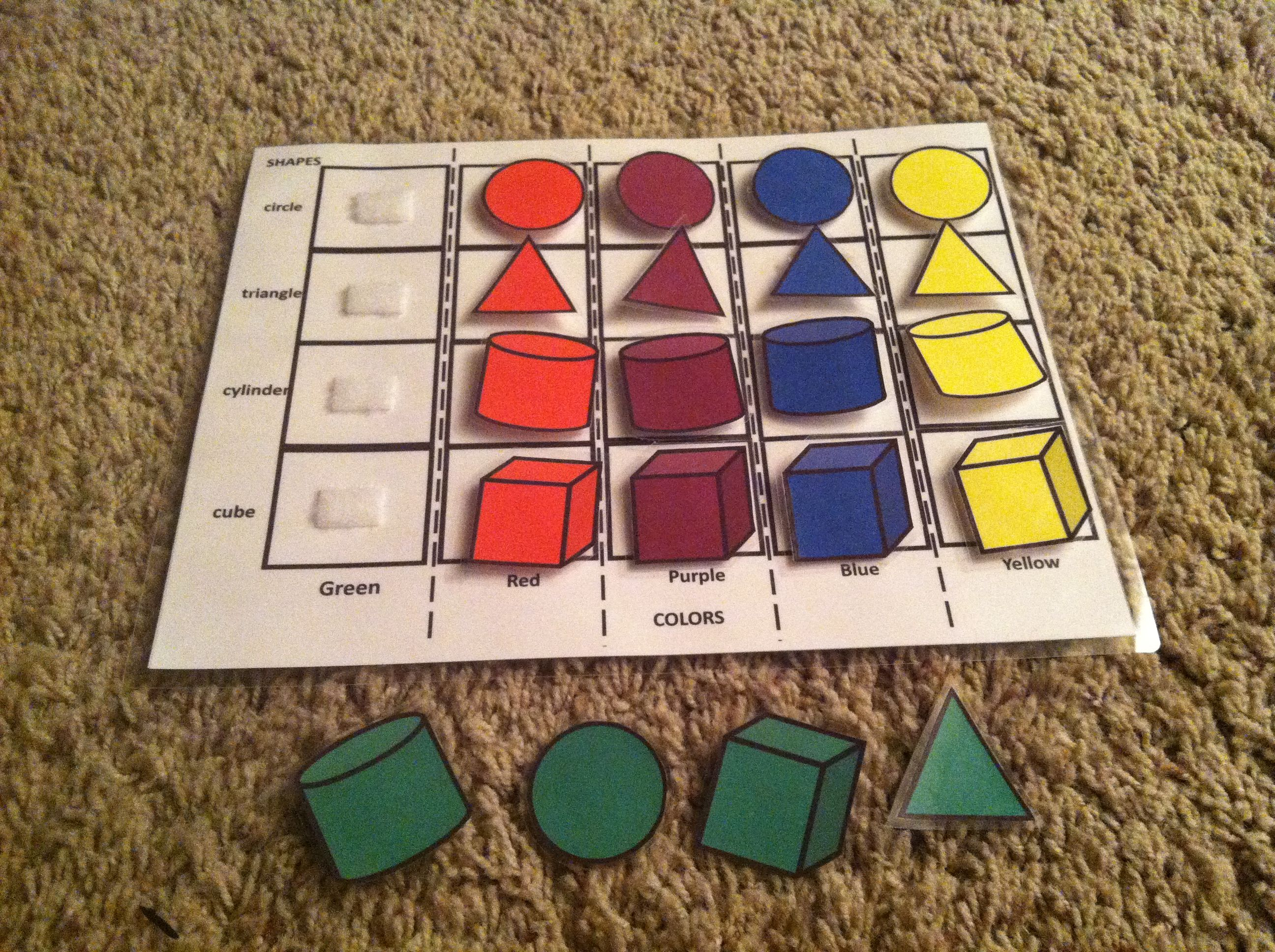 Sort Shapes On Chart By Color Circles Cylinders Cubes