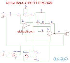 mega bass circuit using 4558 en 2019 proyectos que debo intentar circuit diy amplifier y. Black Bedroom Furniture Sets. Home Design Ideas