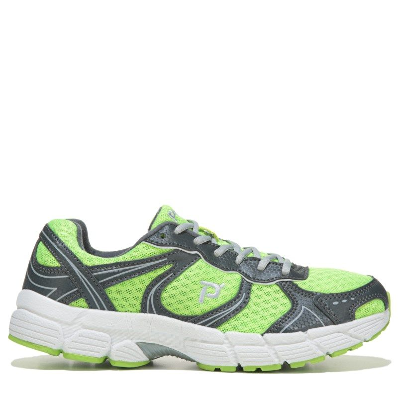 Propet Womens XV550 NarrowMediumWide Memory Foam Walking Shoes LimeGrey