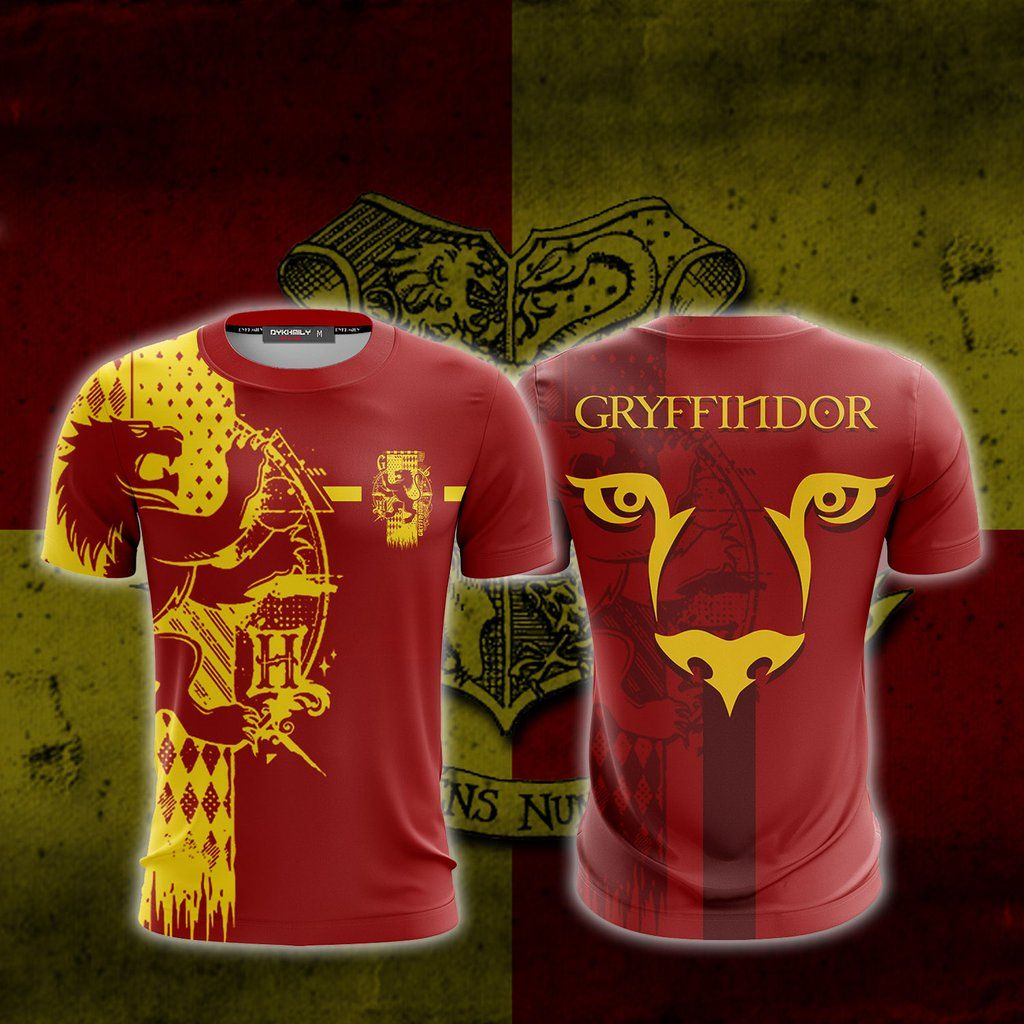 Quidditch Gryffindor Harry Potter Unisex 3d T Shirt 3d T Shirts