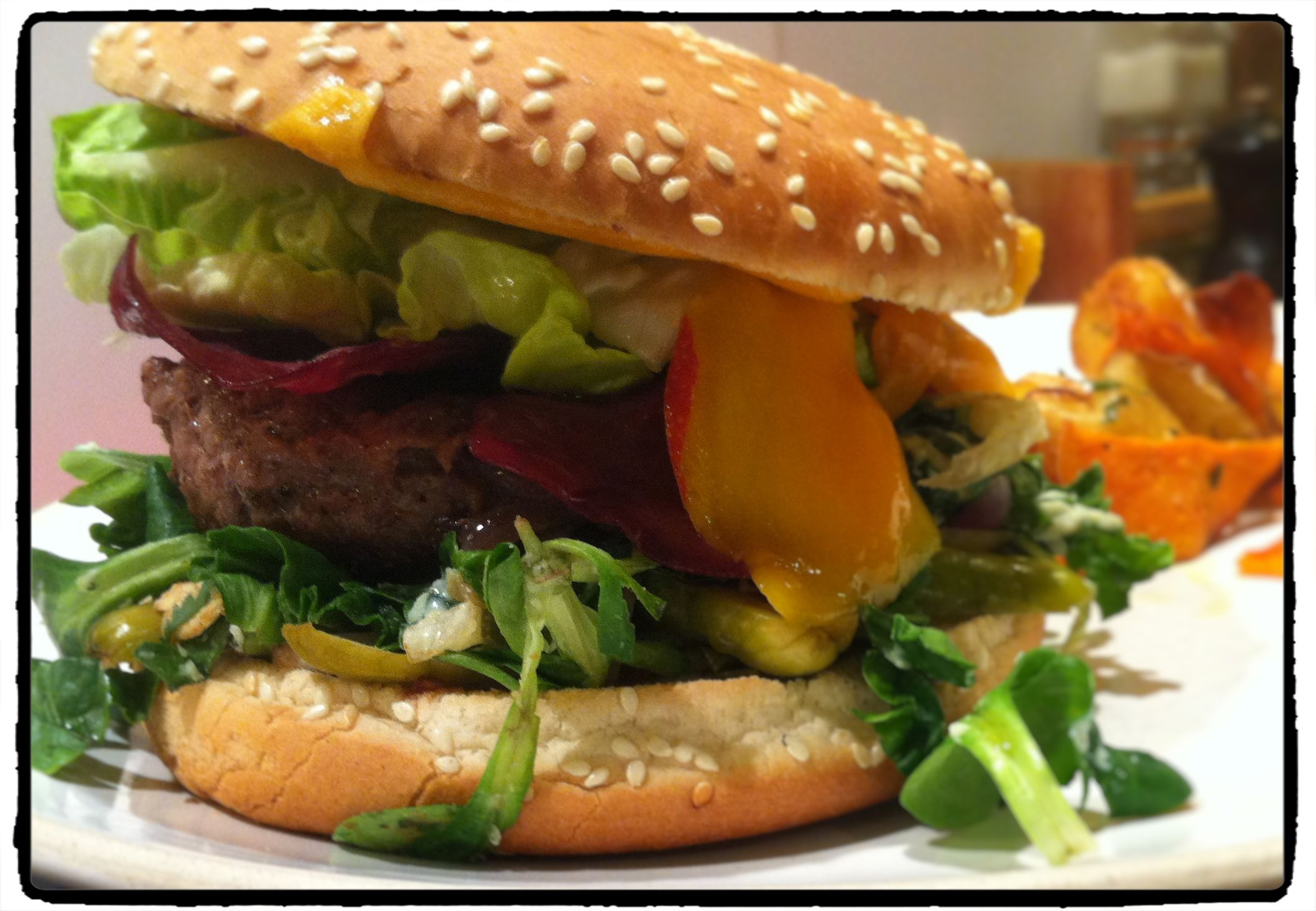 Le burger mangue, garam masala...