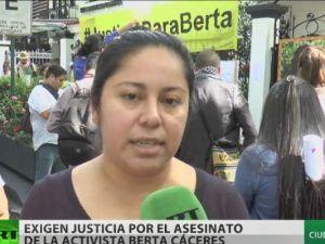 VIDEO: Exigen justicia por el asesinato de la activista Berta Cáceres