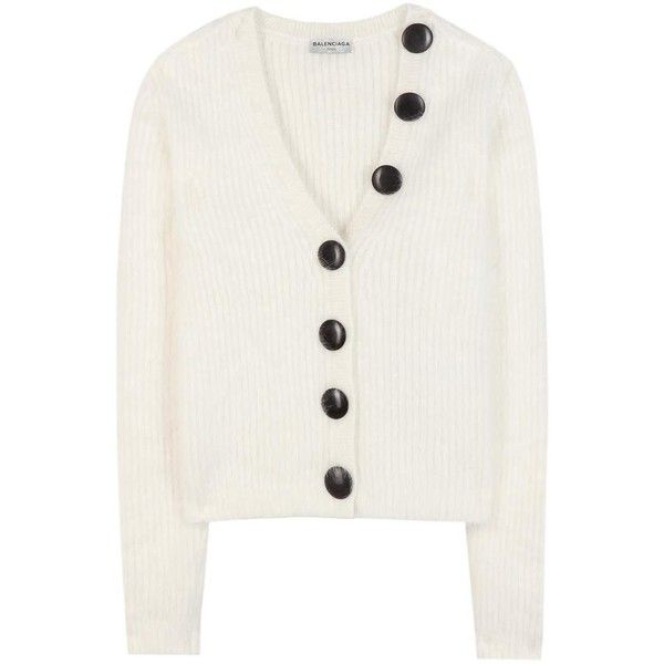 17343e006c5cb0 Balenciaga Angora Wool-Blend Cardigan ( 1