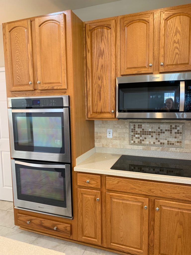 E Design 3 Painted Oak Maple Kitchen Cabinet Projects In 2020 Maple Kitchen Cabinets Oak Cabinets Maple Kitchen