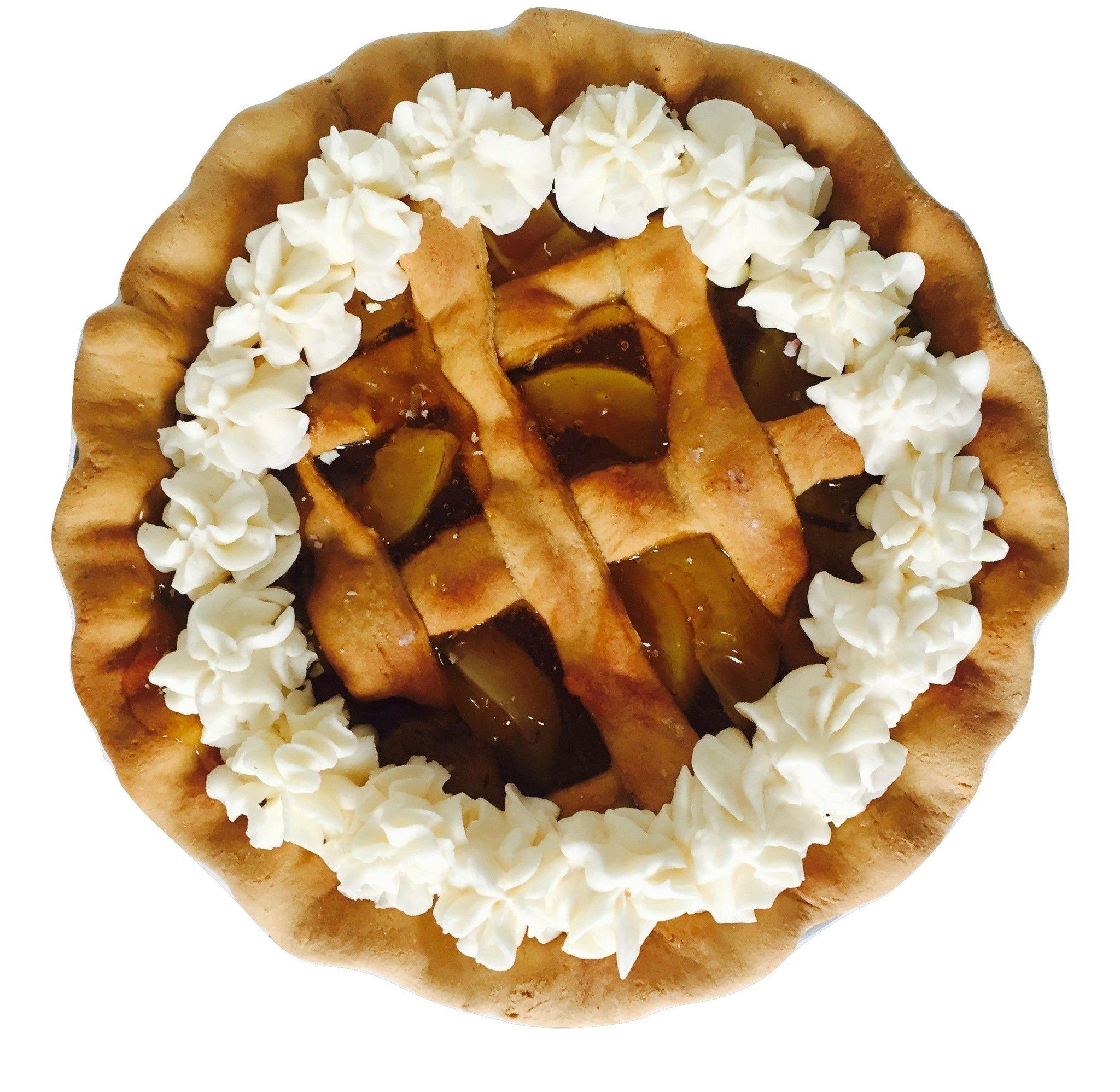 Fake Georgia Peach Pie With Lattice Crust (Scented) by www.EverythingDawnBakeryCandles.com #fakepie #fakepieprop #fakecakesandpies