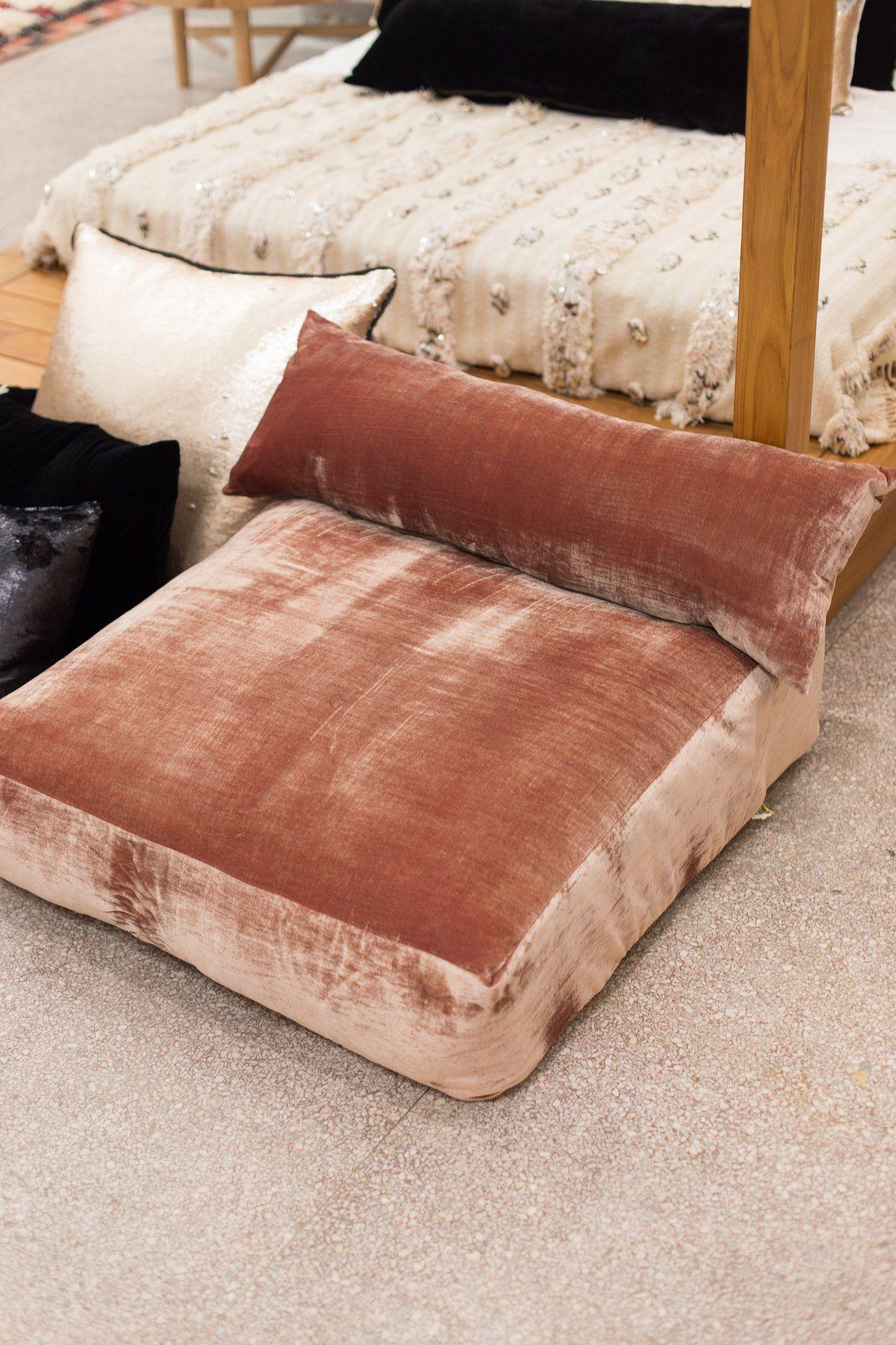 Velvet Rectangle Pillow Black Rectangle Pillow Floor Sitting Pillows