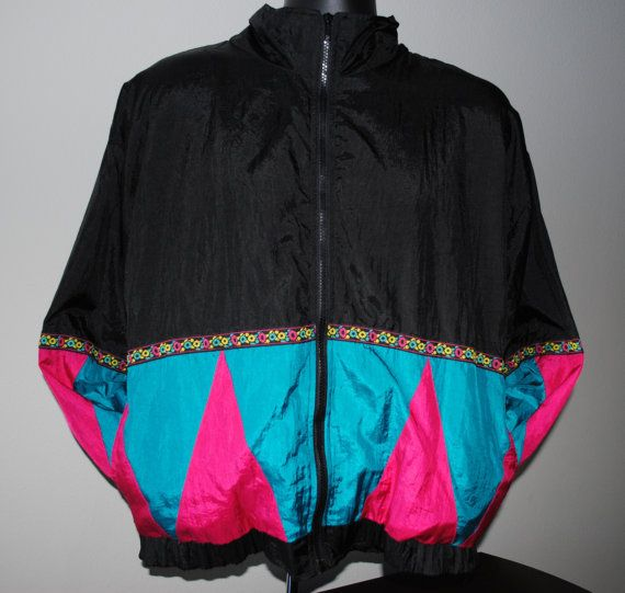 Vintage 90's Flowered and Neon Triangle Longstreet Petite Brand ...