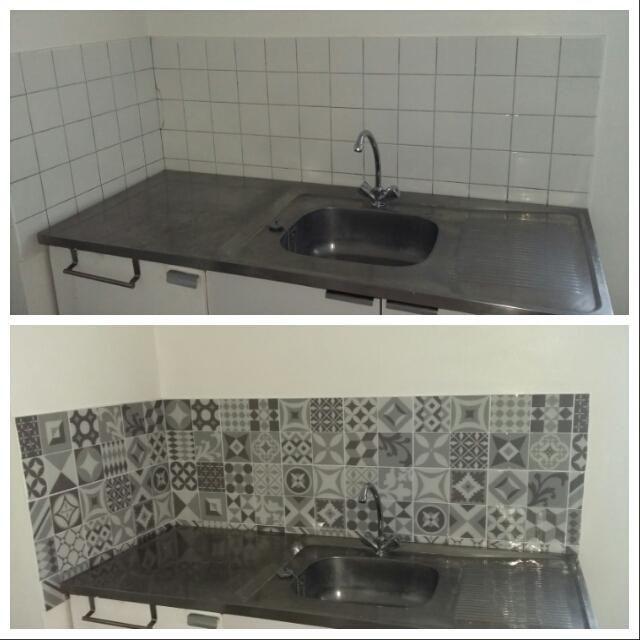 vintage gallo carrelage mural adh sif cuisine. Black Bedroom Furniture Sets. Home Design Ideas