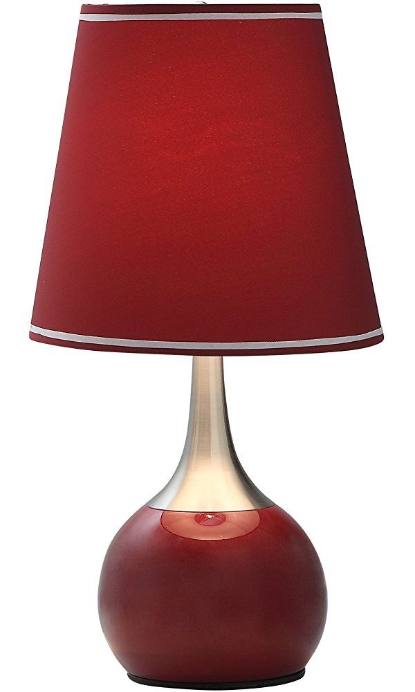 23 H Contemporary Deluxe Table Touch Lamp Available In Burgundy Provided By Abc Market Usa Best Price Touch Table Lamps Red Table Lamp Touch Lamp