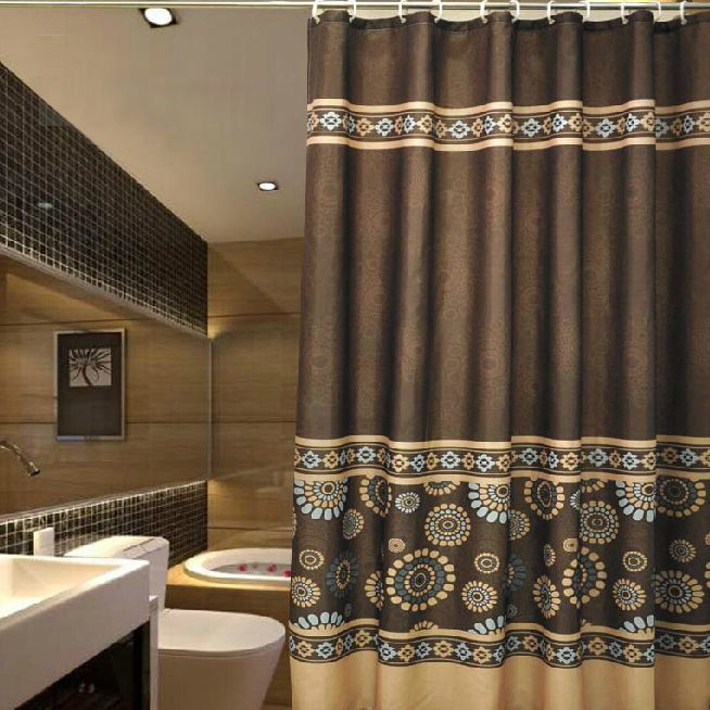 Vintage Coffee Patterned Luxury Shower Curtains | Vintage coffee ...