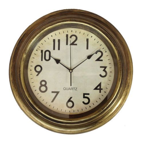 Reloj de pared 45 cm de cocina vidrio redondo antiguo - Reloj pared cocina ...