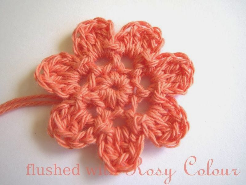 Flushed with Rosy Colour: 7 Petal Flower, free pattern | Free ...