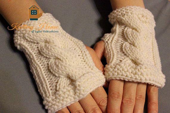 Knitted Fingerless Gloves Arm Warmers Mitten Mittens Womens Mens