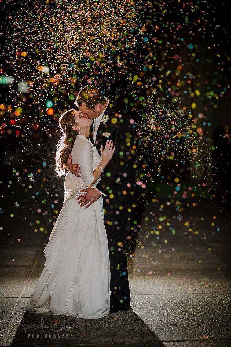 Confetti wedding portrait  Amanda Lamb Photography