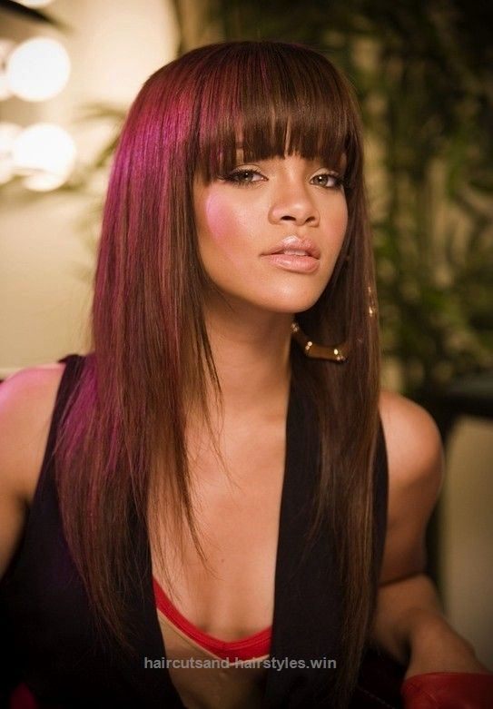 2014 Straight Long Hairstyles With Bangs Long Hairstyle Fringes