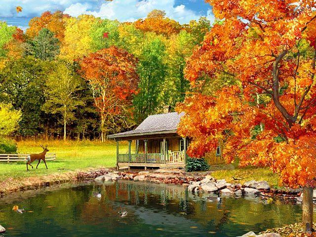 Autumn Log Cabin Wallpaper Google Search Autumn Scenery Free Fall Screensavers Fall Wallpaper Free google wallpaper and screensavers