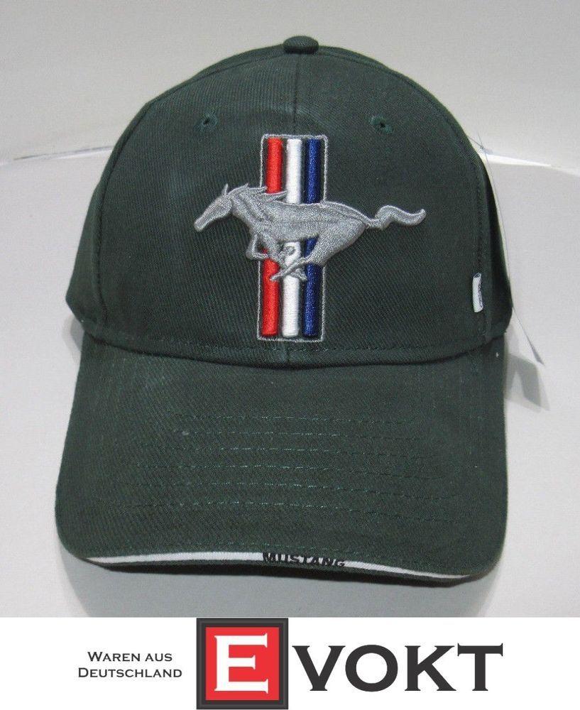 bea826369af519 eBay #Sponsored Original Ford Mustang Cap Baseball Cap Hat 35030130 Green  Bullitt Pony 35030130