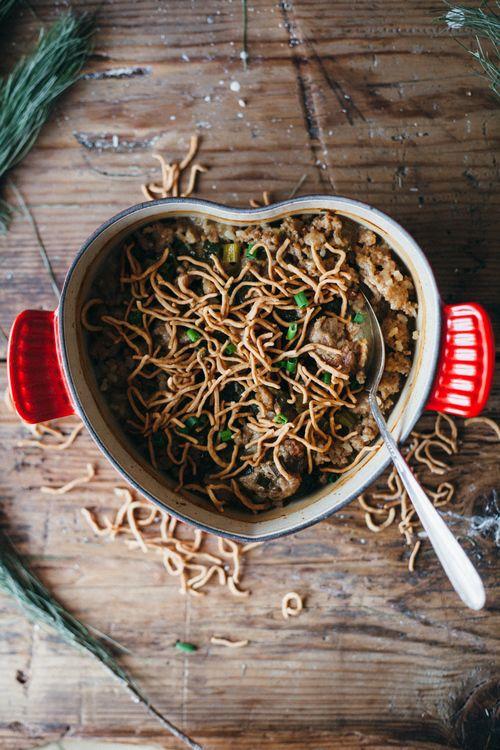 chinese hot dish: mince casserole, coconut milk.